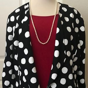 Black & White Flattering Blazer by Chico's